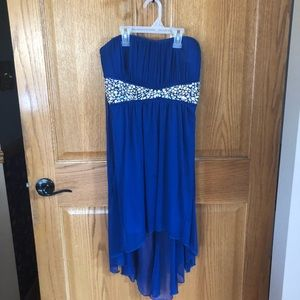 Homecoming dress size large w/ sequins, strapless